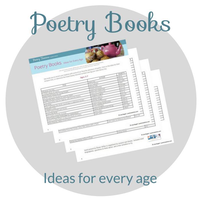 Poetry Teatime Book List