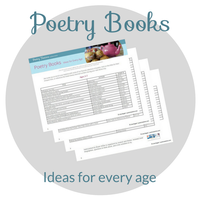 Poetry Teatime Book List